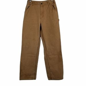 Carhartt Cargo Khaki Work Pant Stains Size 16